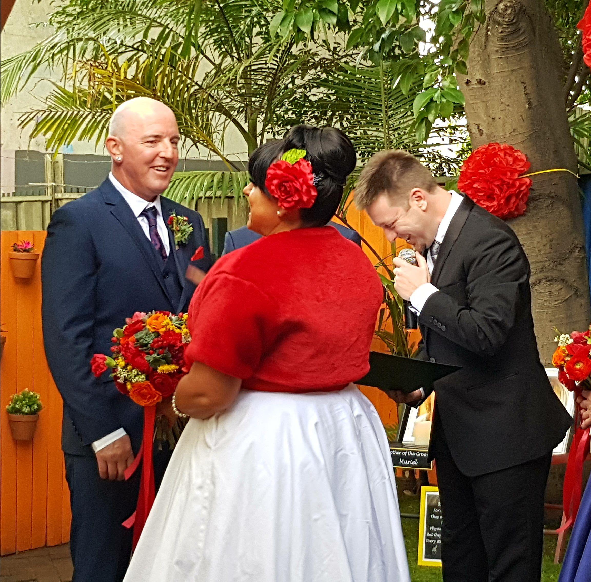 Fun Wedding Ceremony, Fun Celebrant, Marriage Celebrant, Themed wedding ceremony, customised wedding Ceremony, Fun male Celebrant, Sydney Celebrant