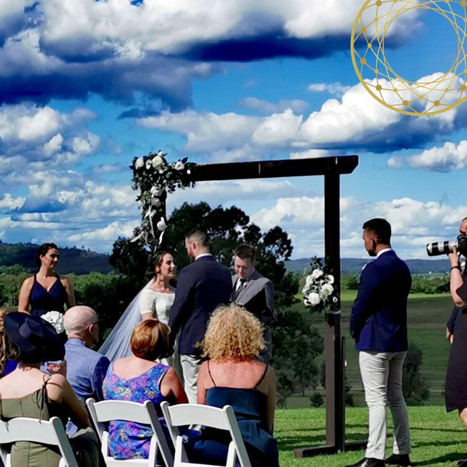 Outdoor Wedding Ceremony, Hunter Valley Wedding, Male Marriage Celebrant, Customised Ceremony, Sydney Marriage Celebrant