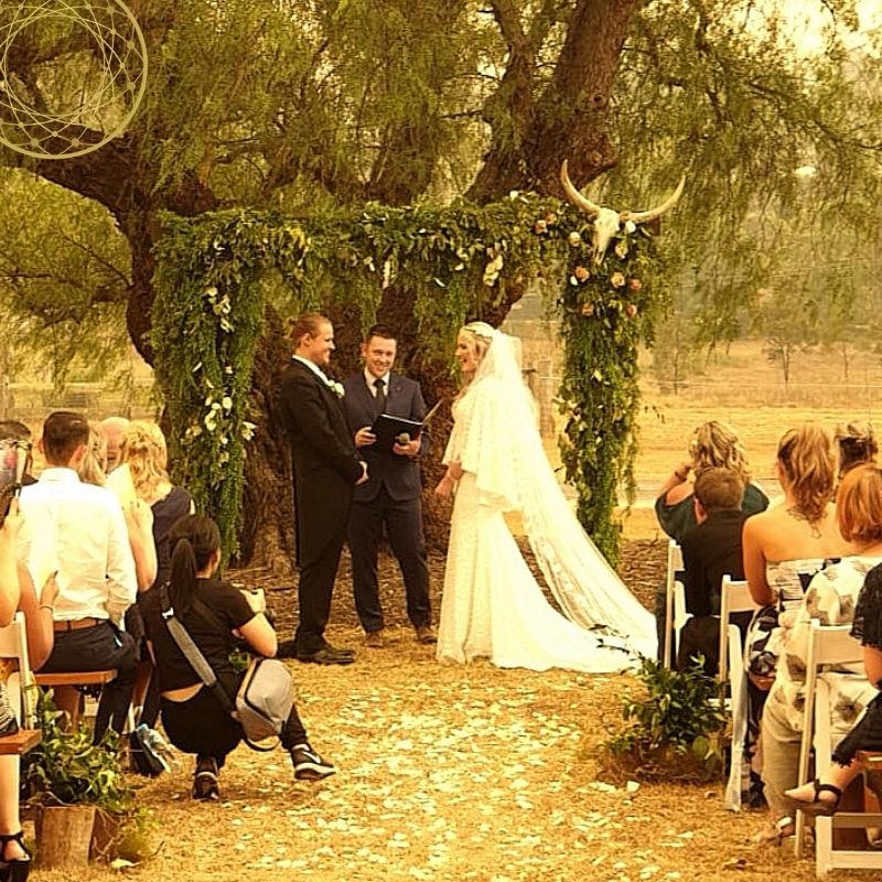 Smokey day, Wedding Ceremony, Viking Wedding Ceremony,Sydney Marriage Celebrant, Male Celebrant