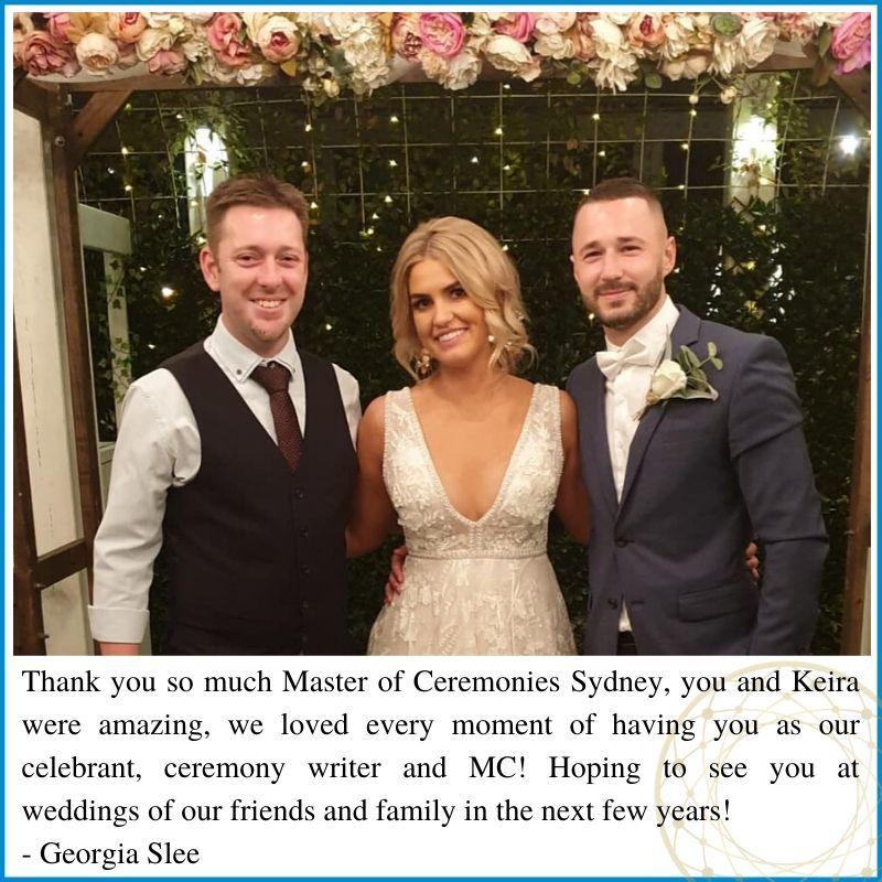 Review Master of Ceremonies Sydney, The Fiddler Rouse Hill Wedding, Marriage Celebrant, Scott Phillips