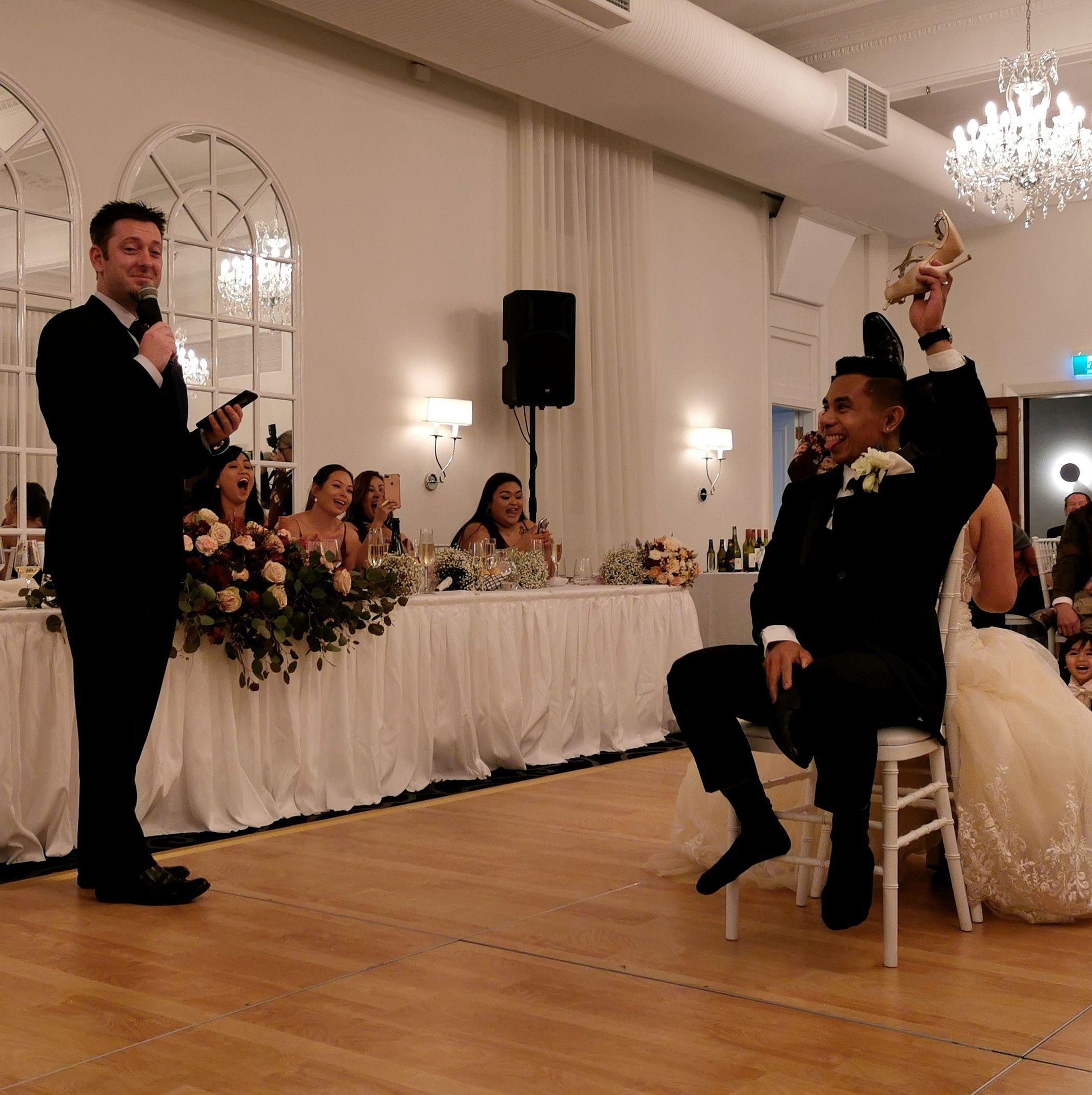 Longest Married Game, Shoe Game, Wedding Game, Fun WEdding Reception, MC, Master of Ceremonies Sydney MC, Sydney Celebrant, Hawkesbury Celebrant