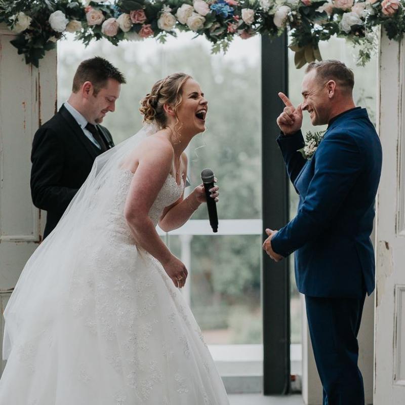Fun Ceremony, Sydney Wedding Ceremony, Sydney Wedding Celebrant, Marriage Celebrant, Customised Vows, Marriage Vows, Wedding Vows, Hawkesbury Celebrant, Young Male Celebrant, The Hills Marriage Celebrant